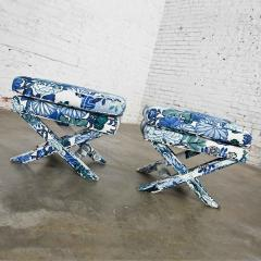 Billy Baldwin Billy baldwin style x base benches or foot stools - 2130377