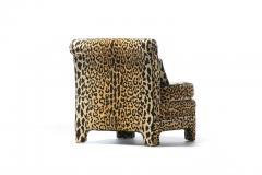 Billy Baldwin Pair of Billy Baldwin Regency Style Leopard Velvet Slipper Chairs c 1970s - 2101355
