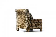Billy Baldwin Pair of Billy Baldwin Regency Style Leopard Velvet Slipper Chairs c 1970s - 2101358