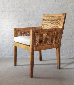 Billy Baldwin Pair of Rattan Armchairs - 737369