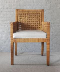 Billy Baldwin Pair of Rattan Armchairs - 737376