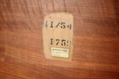 Biomorphic Walnut Brass Cocktail Table by T H Robsjohn Gibbings - 775436
