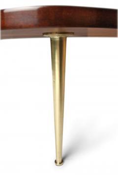 Biomorphic Walnut Brass Cocktail Table by T H Robsjohn Gibbings - 775452