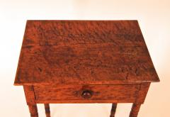 Birdseye and Tiger Maple Sheraton One Drawer Stand - 1042732