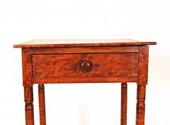 Birdseye and Tiger Maple Sheraton One Drawer Stand - 1042733