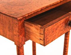 Birdseye and Tiger Maple Sheraton One Drawer Stand - 1042734