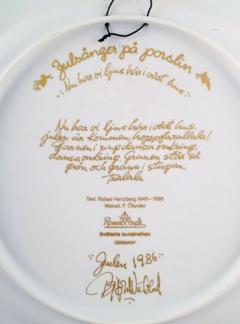 Bj rn Wiinblad Christmas plate in porcelain from 1986 - 1391481
