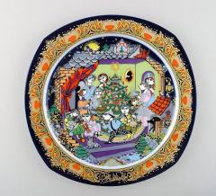 Bj rn Wiinblad Christmas plate in porcelain from 1986 - 1391482