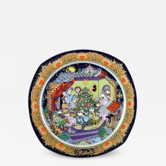 Bj rn Wiinblad Christmas plate in porcelain from 1986 - 1393279