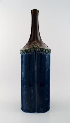 Bj rn Wiinblad Large Rosenthal Bj rn Wiinblad large ceramic vase decorated in blue and brown - 1293005