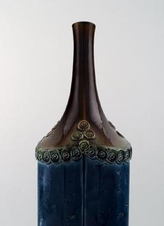 Bj rn Wiinblad Large Rosenthal Bj rn Wiinblad large ceramic vase decorated in blue and brown - 1293010
