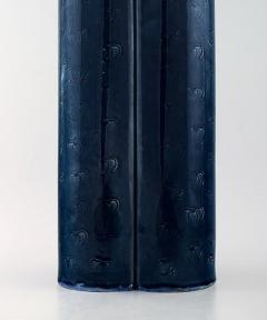 Bj rn Wiinblad Large Rosenthal Bj rn Wiinblad large ceramic vase decorated in blue and brown - 1293012