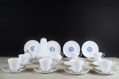 Bj rn Wiinblad Rosenthal Bjorn Wiinblad Romanze 8 p coffee service with blue decoration - 1293051