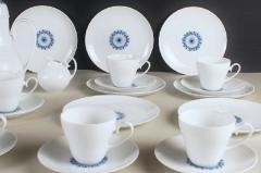 Bj rn Wiinblad Rosenthal Bjorn Wiinblad Romanze 8 p coffee service with blue decoration - 1293055