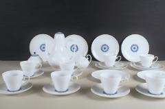 Bj rn Wiinblad Rosenthal Bjorn Wiinblad Romanze 8 p coffee service with blue decoration - 1293056
