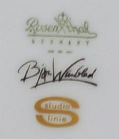 Bj rn Wiinblad Rosenthal Studio Linie Bjorn Wiinblad 6 p Coffee service with gold decoration - 1293071
