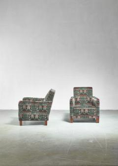 Bjorn Tragardh Bj rn Tr g rdh pair of club chairs with original Art Nouveau upholstery 1930s - 893998