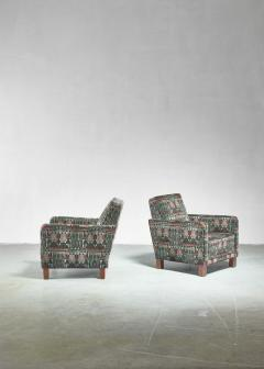 Bjorn Tragardh Bj rn Tr g rdh pair of club chairs with original Art Nouveau upholstery 1930s - 893999