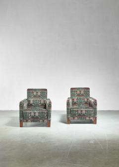 Bjorn Tragardh Bj rn Tr g rdh pair of club chairs with original Art Nouveau upholstery 1930s - 894000