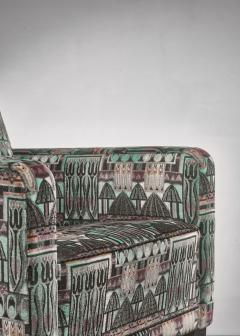 Bjorn Tragardh Bj rn Tr g rdh pair of club chairs with original Art Nouveau upholstery 1930s - 894003