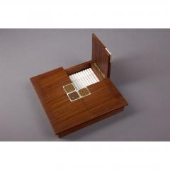 Bjorn Wiinblad Rosenthal Rosewood Box with Bjorn Windblad Porcelain Tiles 1960s - 354318