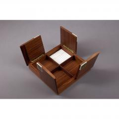 Bjorn Wiinblad Rosenthal Rosewood Box with Bjorn Windblad Porcelain Tiles 1960s - 354319