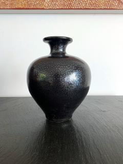 Black Ceramic Vase with Oil spot Glaze Jian Ware - 1201711