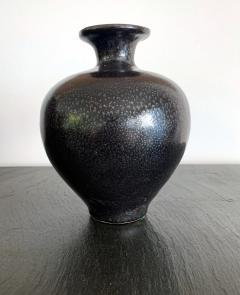 Black Ceramic Vase with Oil spot Glaze Jian Ware - 1201713