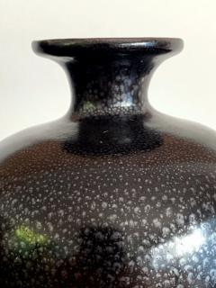 Black Ceramic Vase with Oil spot Glaze Jian Ware - 1201729