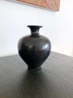 Black Ceramic Vase with Oil spot Glaze Jian Ware - 1201735