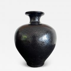 Black Ceramic Vase with Oil spot Glaze Jian Ware - 1203564