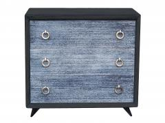 Black Cerused Mid Century Dresser - 1853116