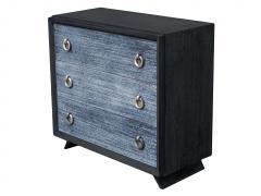 Black Cerused Mid Century Dresser - 1853117