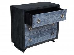 Black Cerused Mid Century Dresser - 1853120