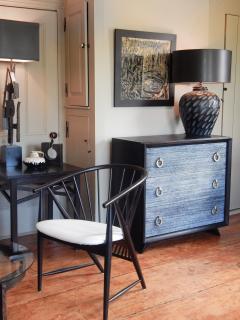 Black Cerused Mid Century Dresser - 1853122