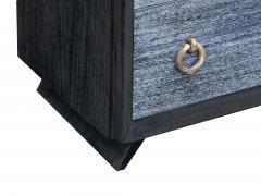Black Cerused Mid Century Dresser - 1853123