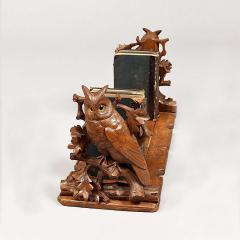 Black Forest Adjustable Book Rack with Carved Owls - 684741