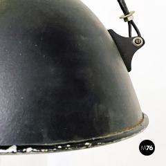 Black Industrial chandelier 1970s - 2102785