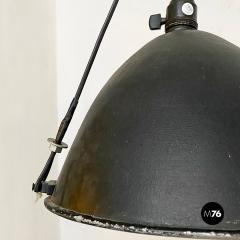 Black Industrial chandelier 1970s - 2102786