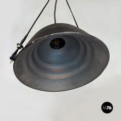 Black Industrial chandelier 1970s - 2102796