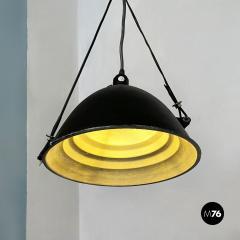 Black Industrial chandelier 1970s - 2102797