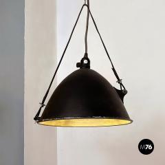 Black Industrial chandelier 1970s - 2102798