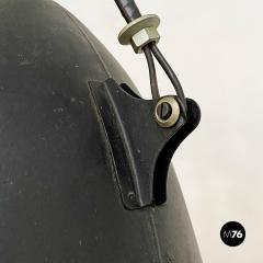 Black Industrial chandelier 1970s - 2102799