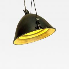 Black Industrial chandelier 1970s - 2106132