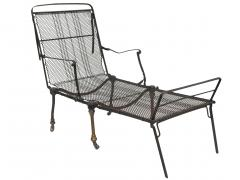 Black Iron Folding Chaise - 507067