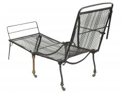 Black Iron Folding Chaise - 507068