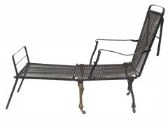 Black Iron Folding Chaise - 507071