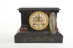 Black Marble Ansonian Mantel Desk Clock - 2107465