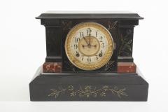 Black Marble Ansonian Mantel Desk Clock - 2107466
