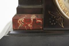 Black Marble Ansonian Mantel Desk Clock - 2107470